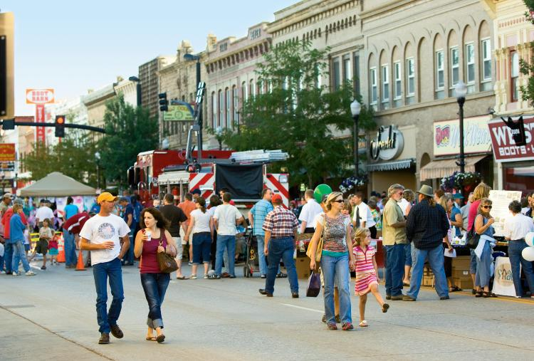 The 3rd Thursday Street Festival is held each third Thursday in June, July, August, and September. From 5:00 to 9:00 p.m., Historic Main Street has street vendors of all types, live music, games, and available night-time shopping.  JCI PHOTO-Brian McCord